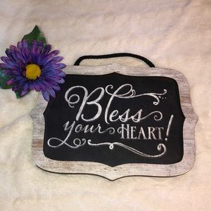 "Really Cute ""Bless Your Heart"" Hanging Sign"